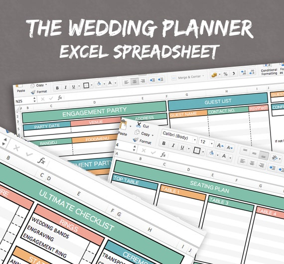 wedding planning excel spreadsheet