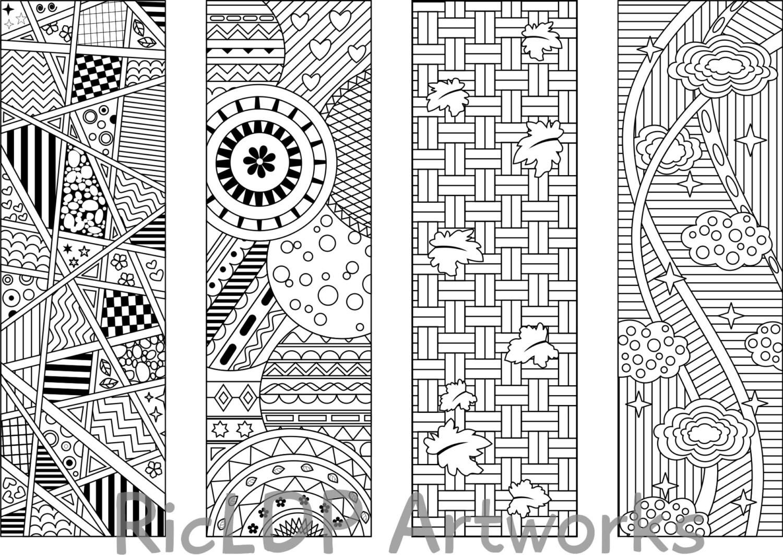 Segnalibri stampabili di disegni da colorare 8 quattro 4 con - Modelli di ghirlanda stampabili ...