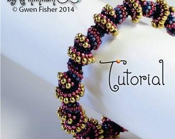 TUTORIAL Snail Shells & Twisty Bits, Beaded with Peyote Stitch