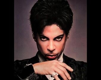 "Print 11x14"" - Prince - Prince Rogers Nelson Purple Rain 1999 Pop Music Rock N Roll Portrait The Artist Funk R&B Guitar TAKFAP Pop Art"