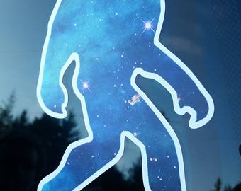 Galaxy Sasquatch, Bigfoot, decal, sticker, Father's Day gift
