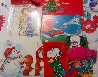 cute variety of vintage christmas gift tags
