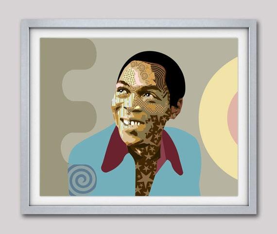 Fela Kuti Afro Pop Art Poster, Nigerian Art, Afro beat Music Legend, Nigerian Musician  Human Rights Activist,  Political Maverick