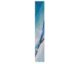 BPT0034 Thin Bracelet Pattern 34 Even Count Single Drop Peyote Bracelet PATTERN