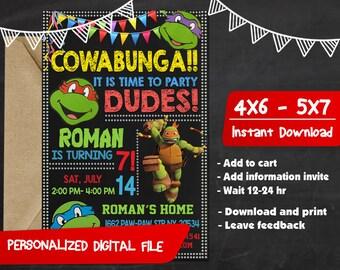 Ninja Turtles Birthday,Ninja Turtles Invitation,Ninja Turtles Birthday Invitation,Ninja Turtles Party,Ninja Turtles Birthday Party-C275