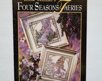 Counted cross stitch pattern | Teresa Wentzler | Four Seasons Faeries | Fantasy cross stitch pattern