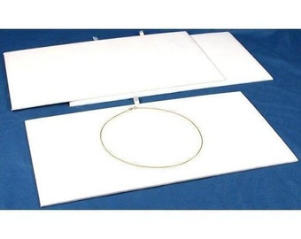Presentation Pad Insert White Velvet Fits Standard Trays