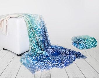 Printed Blanket, Yoga Blanket, Mandala print blanket, Line art, Watercolor print, Adult blanket, Mandala blanket, Fleece adult blankets
