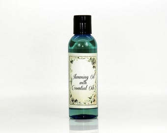 Slimming oil with essential oils, slimming oil, essential oil for slimming, slimming massage oil, massage oil