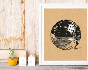 Coastal Tree Print
