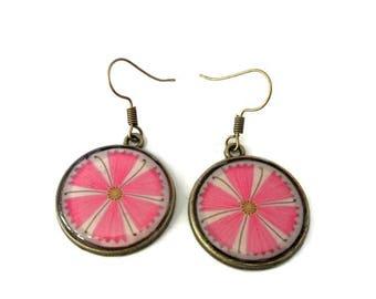 Pink Flower Earrings • Pink Earrings • Cute Pink dangle • Pink Floral dangle Earrings • Floral Jewelry • Gift For Her • Delicate Jewelry