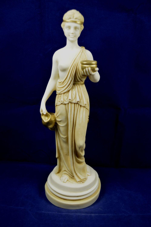 Hebe sculpture alabaster statue Ancient Greek cupbearer for