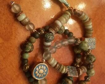 Boho Tuquoise set