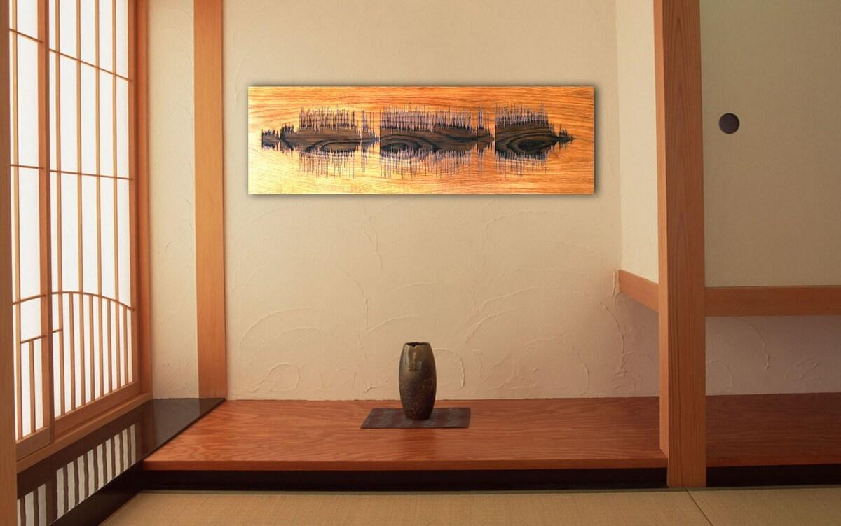 Soundwave Art Personalized Sound Wave Custom Engraved Wall Art