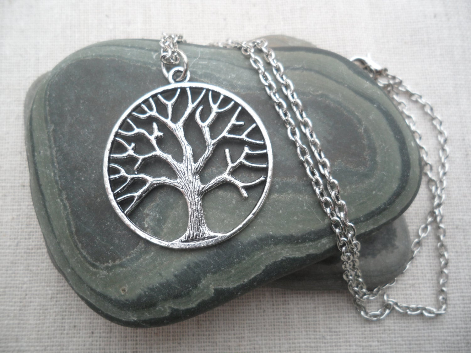 Silver tree necklace tree of life silver necklace tree jewelry zoom aloadofball Gallery