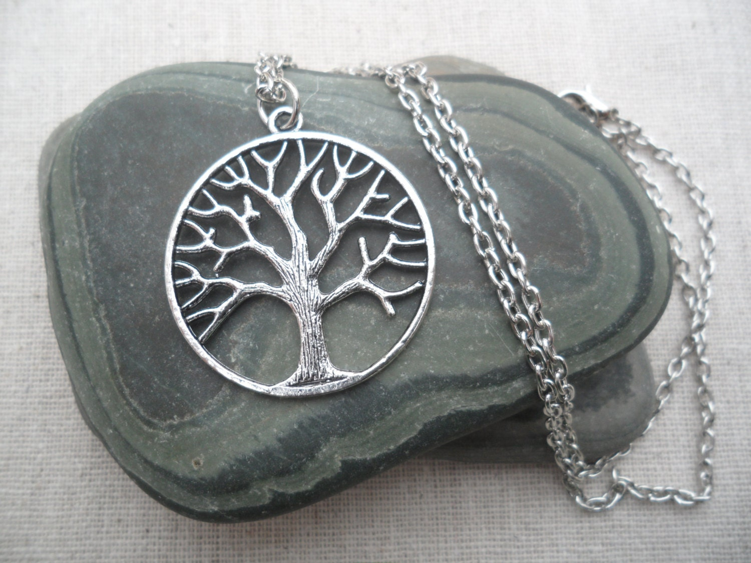 products pendant silver treependantback of life wishing stone ss salt tree