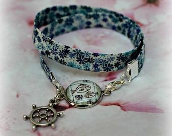 Liberty bracelet with SEA cabochon