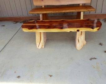 Cedar stump coffee table