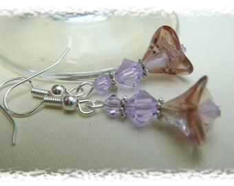 Pink Blooms, Earrings