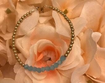 Blue | Gold Filled | Simple | Dainty | Stackable | Bracelet
