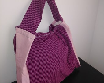 Pink Checkerboard Tote