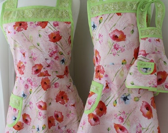 Hello Spring! Mother,Daughter, Doll apron set