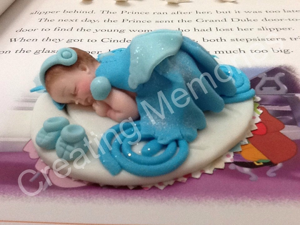 Princess Cake Topper Baby Cinderella Inspired Blue Dressbaby