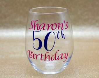 Personalized Wine Glasses For Birthdays, Weddings, Special Occasions, & Requests