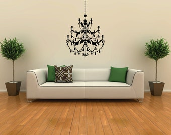 Medium Chandelier vinyl removable wall decal  FREE SHIPPING