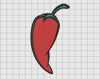 Pepper Jalapeño Embroidery Design in 2x2 3x3 4x4 5x5 and 6x6 Sizes