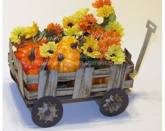"Paper ""Wooden Wagon"" Tutorial"