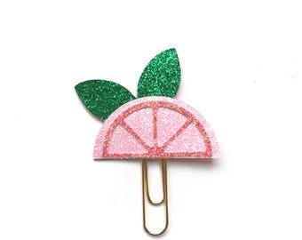 Pink Grapefruit Planner Clip