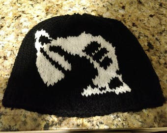 Knitted Hitchhiker's Guide to the Galaxy Hat Made to Order