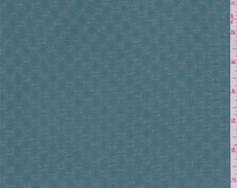 Viridian Green Diamond Leno Chiffon, Fabric By The Yard