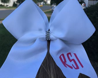 Monogramed Cheer Bow