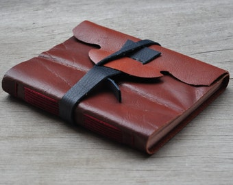 Rustic handmade leather journal