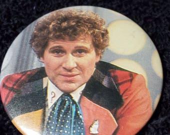 Vintage Doctor Who Colin Baker Pin Pinback