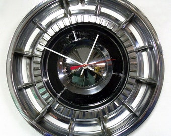 1960 Buick Wall Clock - Electra Invicta LeSabre Hubcap Clock - Estate Wagon - 60's Office Clock