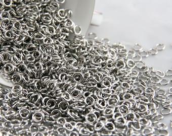 18 ga 1/8, 1 oz Saw Cut Bright Aluminum Chainmail Jump Rings