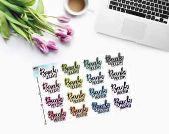 BANK HOLIDAY ~ Planner Stickers ~ CAM00360