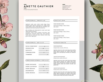 Resume And Cover Letter Template | Professional Resume Design For Word |  Creative Resume Template |