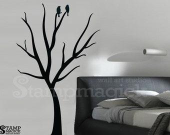 Bare Tree Wall Decal - Winter Tree Wall Decor Graphics - Vinyl Wall Decal Sticker - K181
