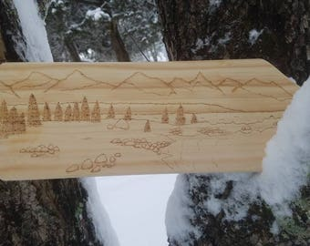 Alaska Decorative Wood Paddle