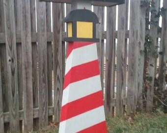 Lighthouse (Red Spiral) Fun Mailpost