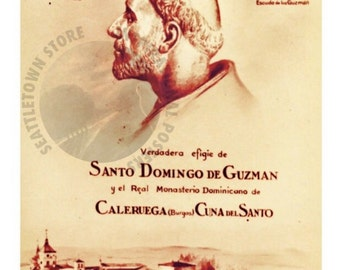 Santo Domingo de Guzman (Crest) Reformer Founder Dominican Order Theology Philosophy Truth Friar Inspirational 11x17 inches Poster