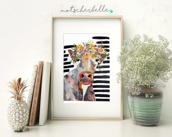 "Cowportrait ""Marie"" - print, poster, art print, Black Forest"