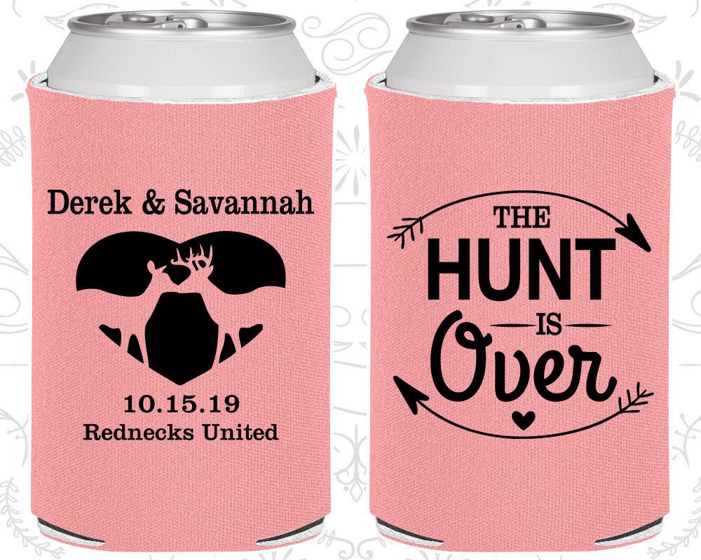 The Hunt is Over Wedding Custom Favors Deer Antler Wedding