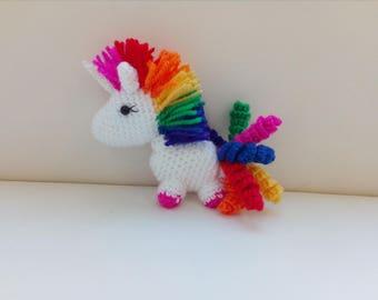 Rainbow Mini Unicorn Cute and Sparkly Plush Toy