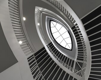 Chicago Architecture Spiral Staircase at Contemporary Art