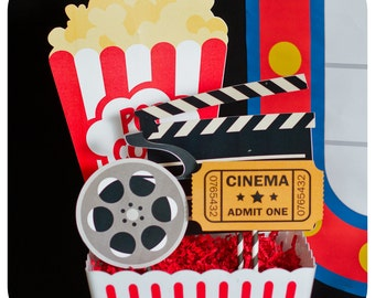 Movie Night Centerpieces; Movie Night Birthday Centerpieces; Movie Night Decor; Movie Night Party; Movie Night Party Decor